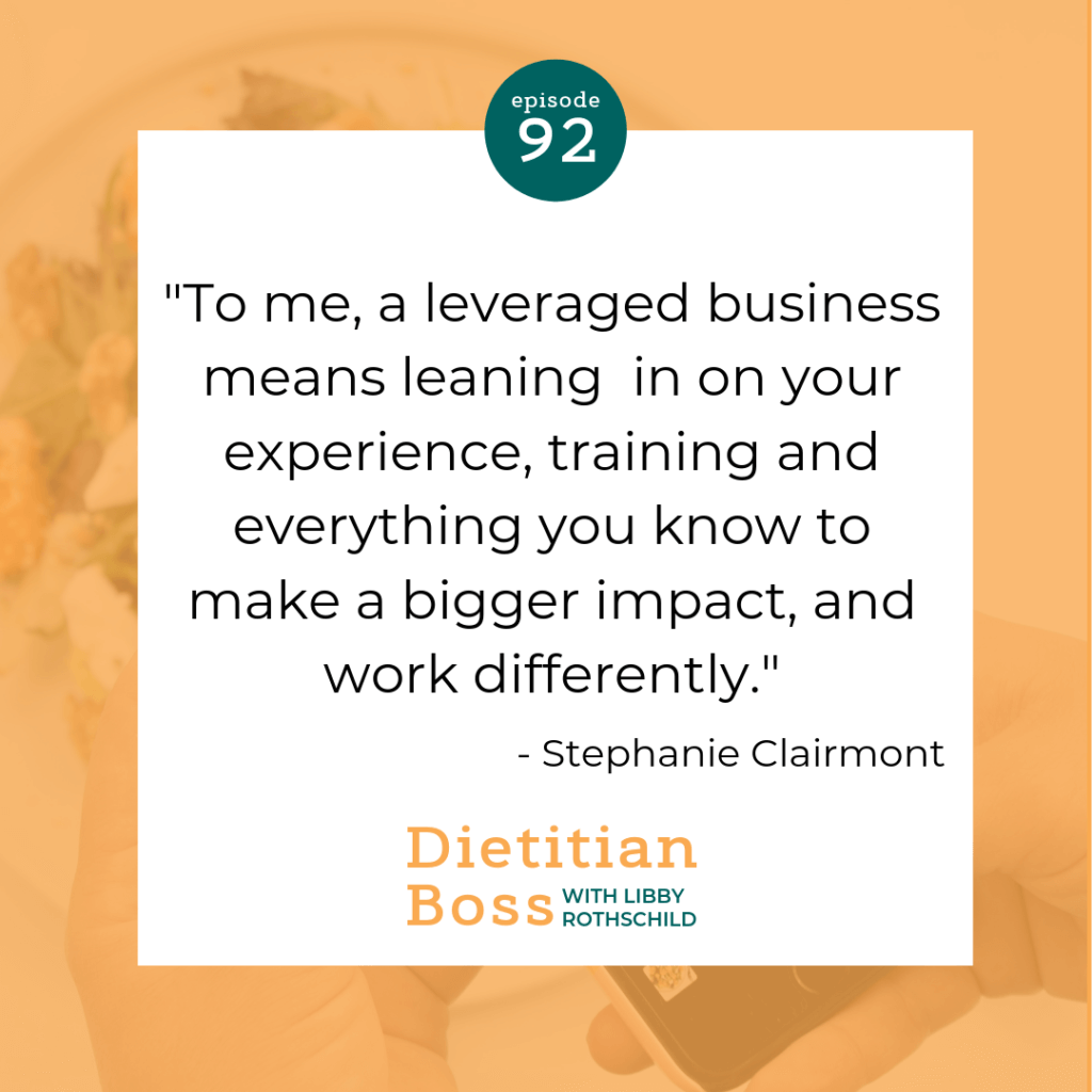 Dietitian Boss Podcast with Libby Rothschild
