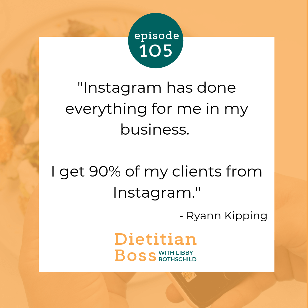 Dietitian Boss Podcast - Growing a Virtual Nutrition Private Practice in a Lifecycle Niche with Ryann Kipping