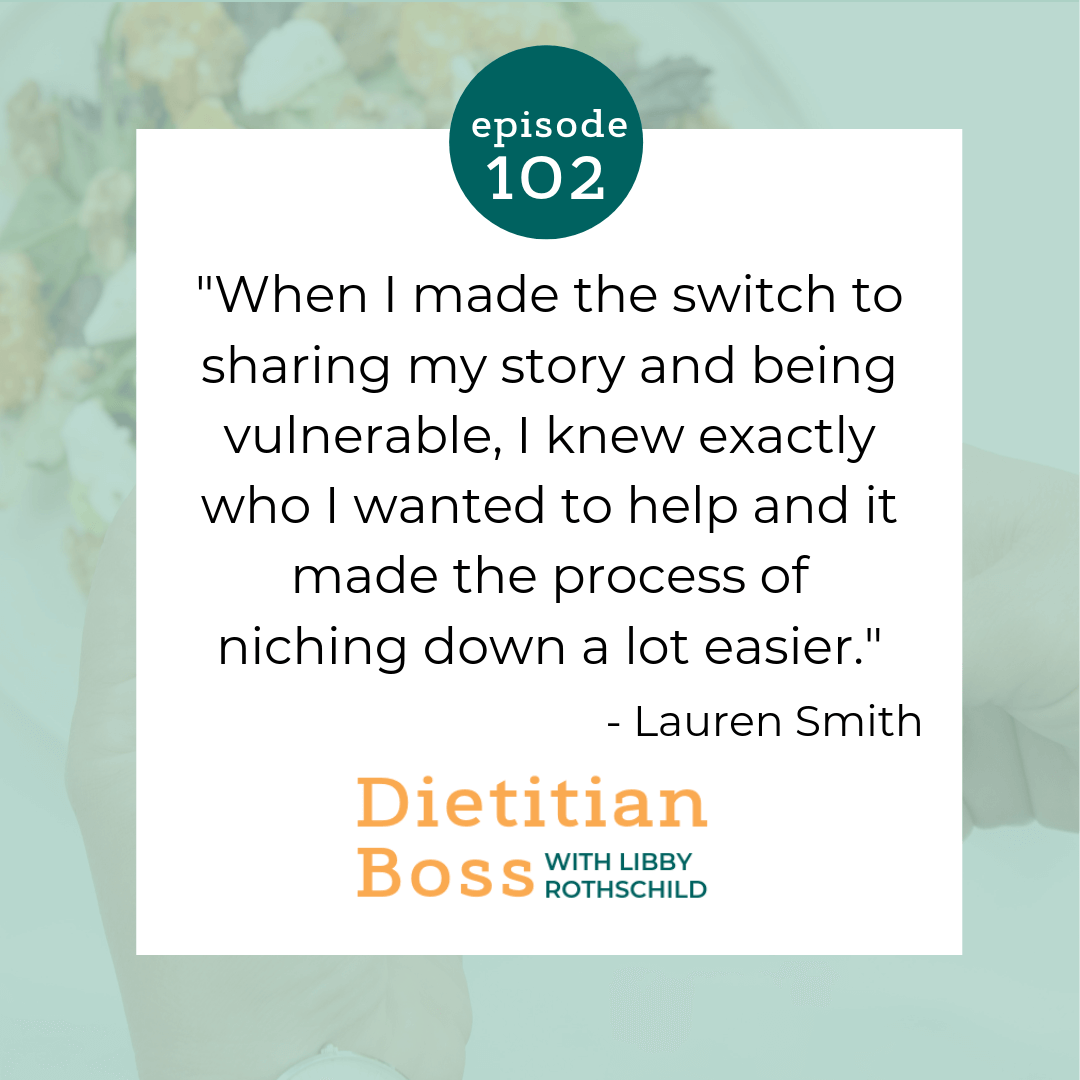 Dietitian Boss Podcast - Building Community Around Your Business with Lauren Smith